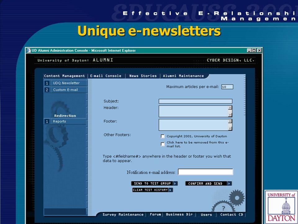 38 Unique e-newsletters