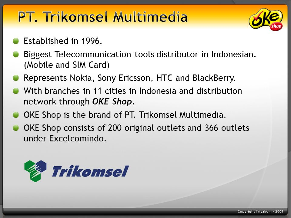 Established in 1996. Biggest Telecommunication tools distributor in Indonesian.