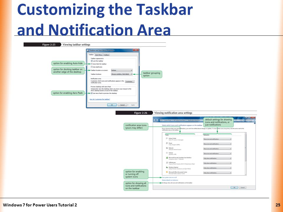 XP Customizing the Taskbar and Notification Area Windows 7 for Power Users Tutorial 225