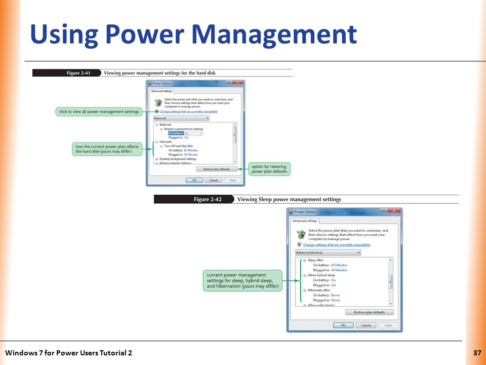 XP Using Power Management Windows 7 for Power Users Tutorial 237