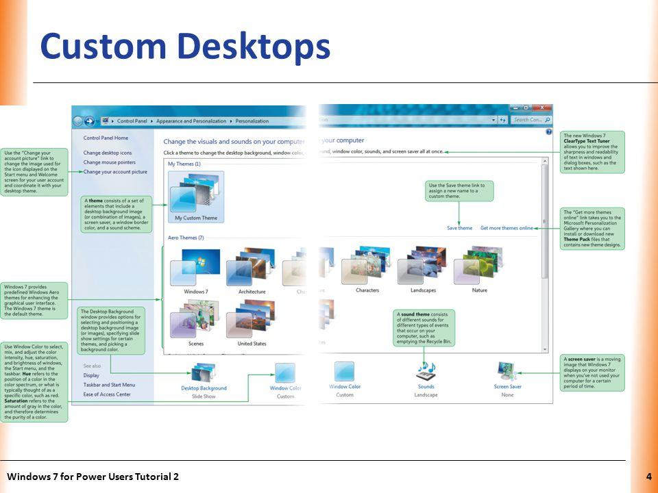 XP Custom Desktops Windows 7 for Power Users Tutorial 24