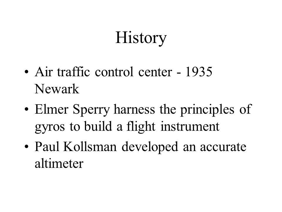 History U. S. Government began installing a radio navigation system Jimmy Doolittle - 1929 first blind flight Elrey Jeppesen - 1934 published airway m
