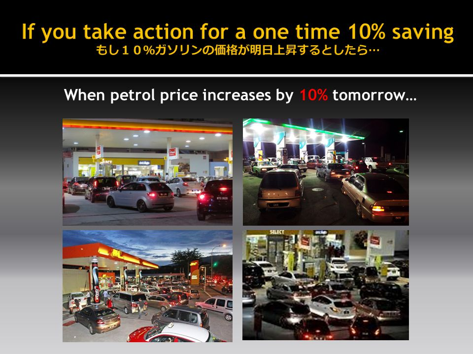 When petrol price increases by 10% tomorrow…