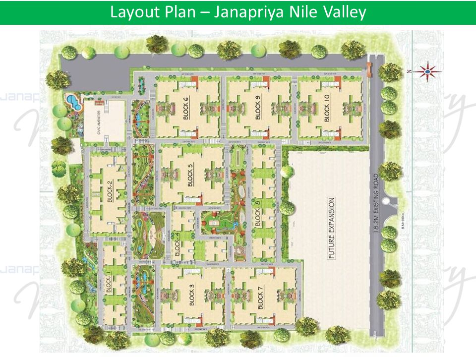 Layout Plan – Janapriya Nile Valley