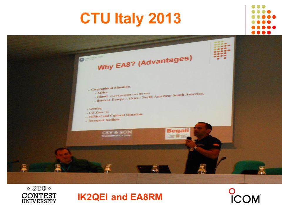 CTU Italy 2013 IK2QEI and EA8RM
