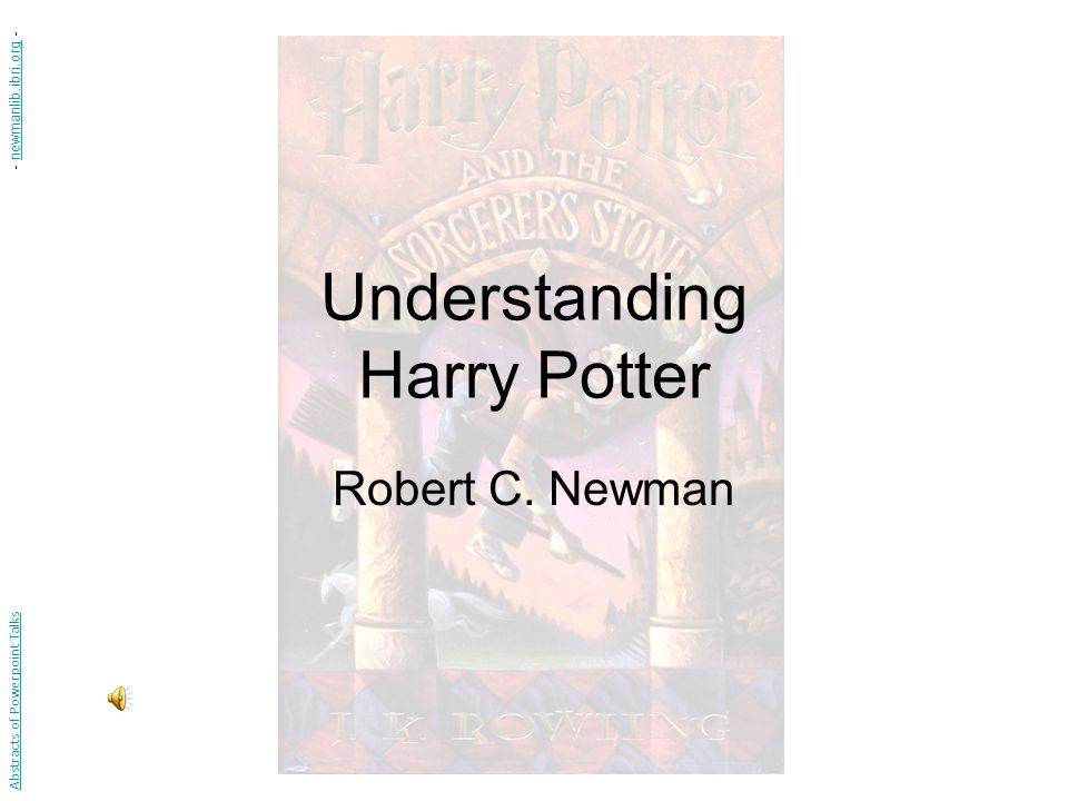 Understanding Harry Potter Robert C.