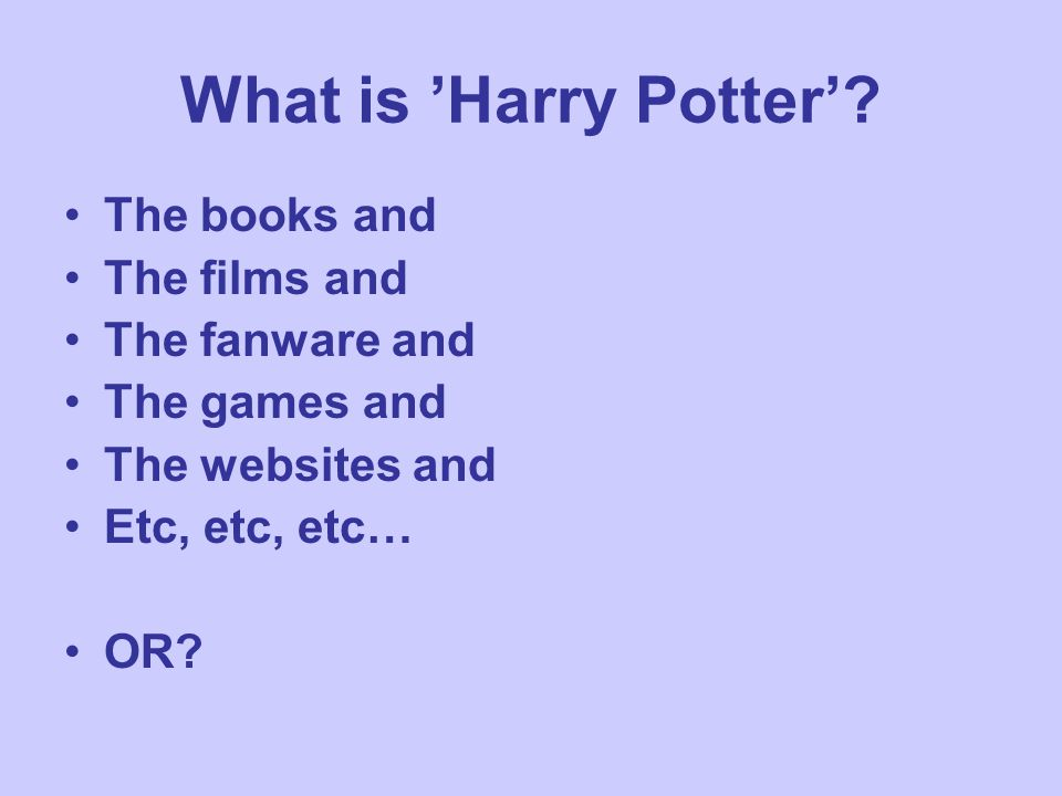 What is 'Harry Potter'.
