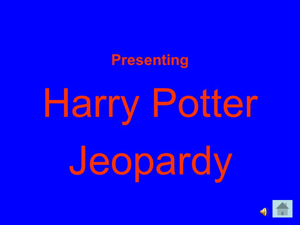 Presenting Harry Potter Jeopardy