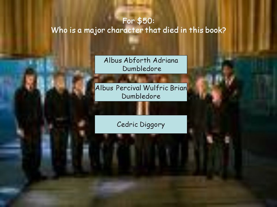 For $350 Fill in the blank. In the 5 th movie _____________ was licking the __________ on his/her arm. Bellatrix Lestrange; Dark Mark Lucius Malfoy; D