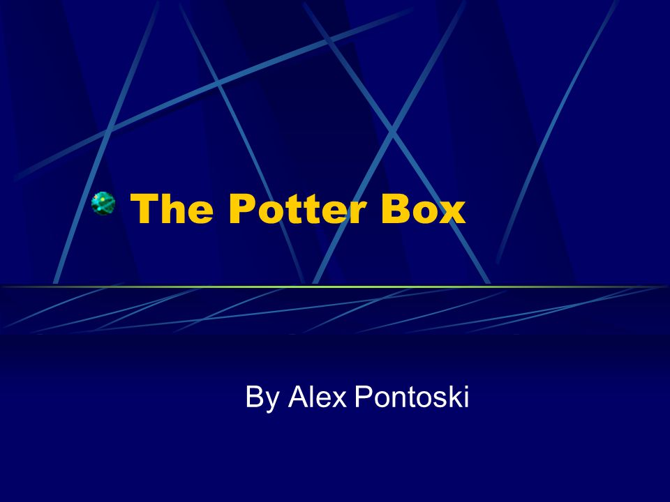 The Potter Box By Alex Pontoski