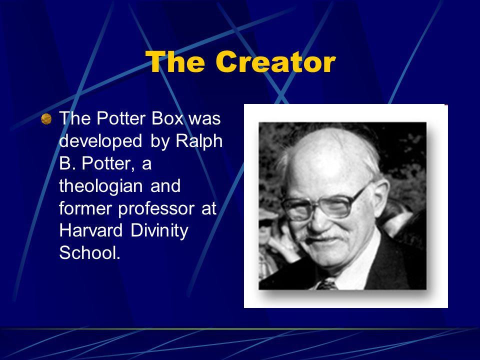 The Creator The Potter Box was developed by Ralph B.