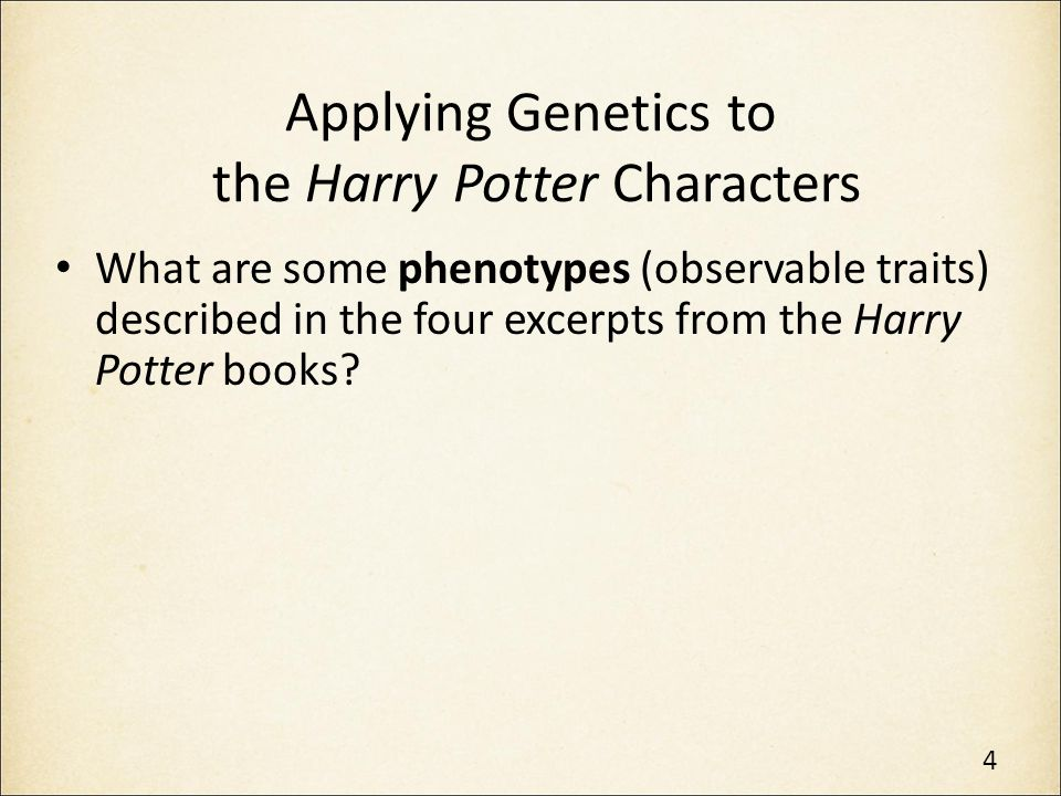 Punnet Square: The Potters Given Harry's parents' possible genotypes, the two Punnett Squares can be completed as follows: The only possible genotype for Harry's dark hair is Rr.