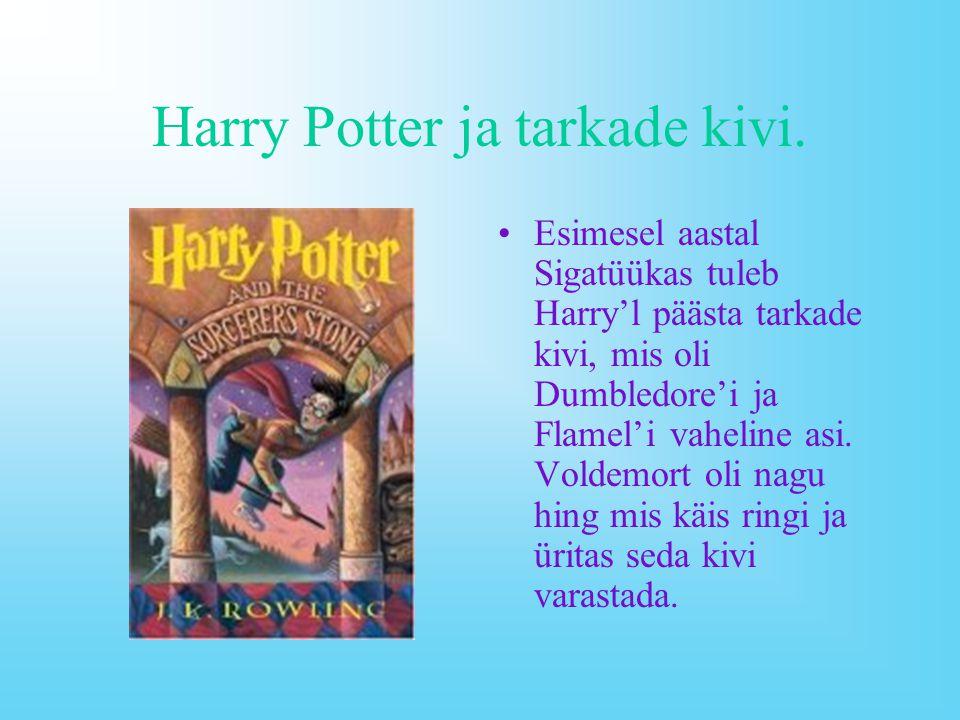 Tähtsamaid tegelasi ja nende kirjeldusi. Harry James Potter – Julge tegutseja Voldemorti vastu.