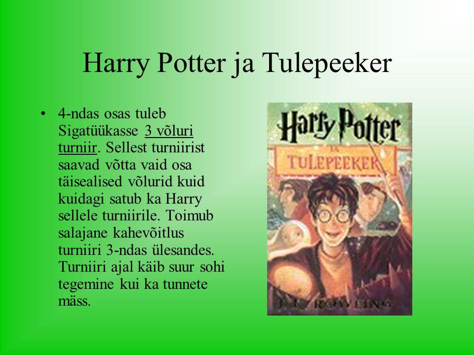 Harry Potter ja Tulepeeker 4-ndas osas tuleb Sigatüükasse 3 võluri turniir.