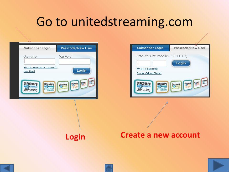 Create a DEStreaming Account