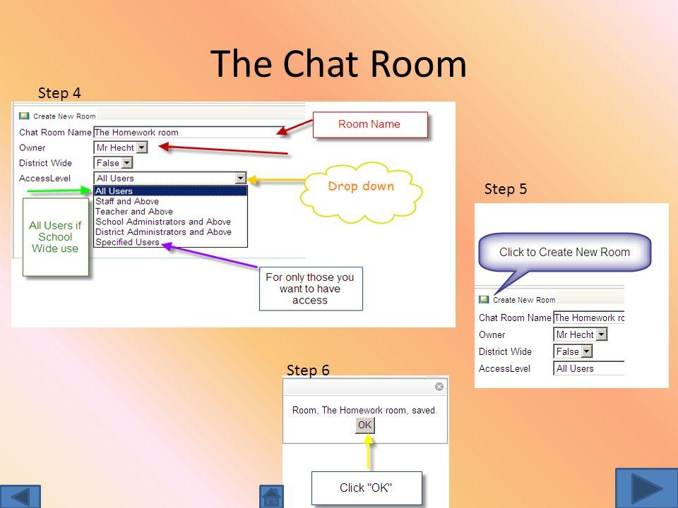 Create a chat room Step 1 Step 2 Step 3