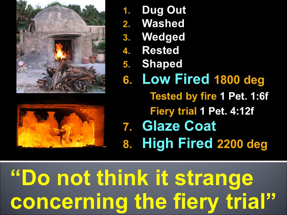 Do not think it strange concerning the fiery trial 1.