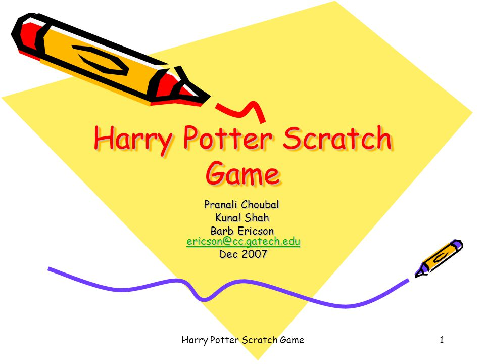 Harry Potter Scratch Game12 Add Other Key Scripts When right arrow –change to Harry_Right costume –change x by 4 When down arrow –change y by -4 When up arrow –change y by 4
