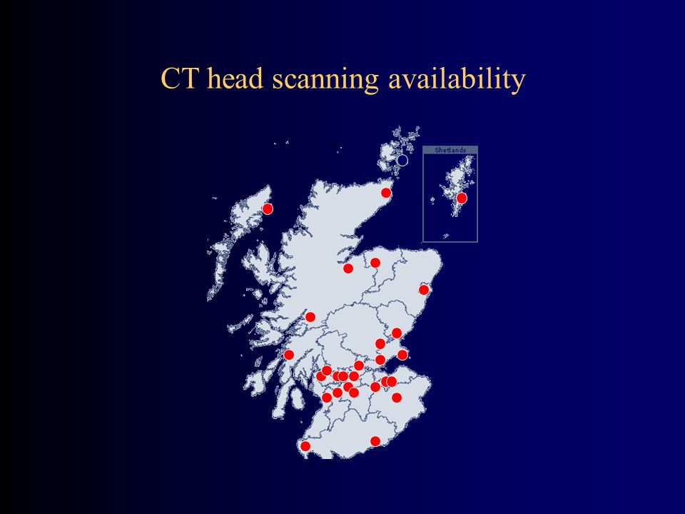 CT head scanning availability