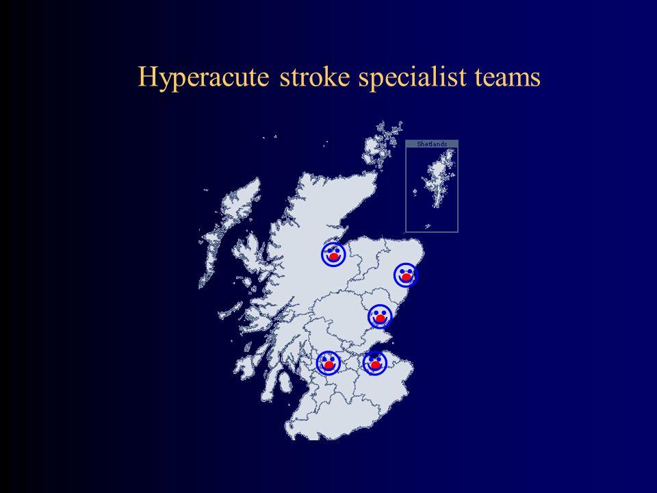 Hyperacute stroke specialist teams