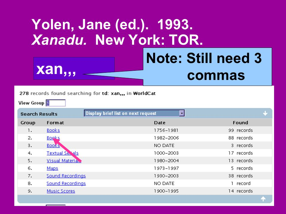 Yolen, Jane (ed.). 1993. Xanadu. New York: TOR. xan,,, Note: Still need 3 commas