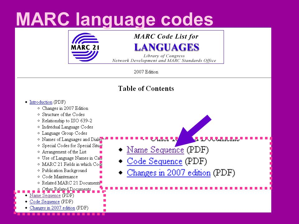 MARC language codes