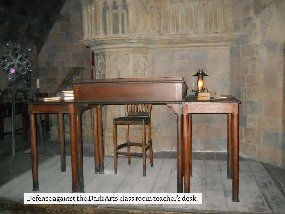 Defense against the Dark Arts class room teacher's desk.