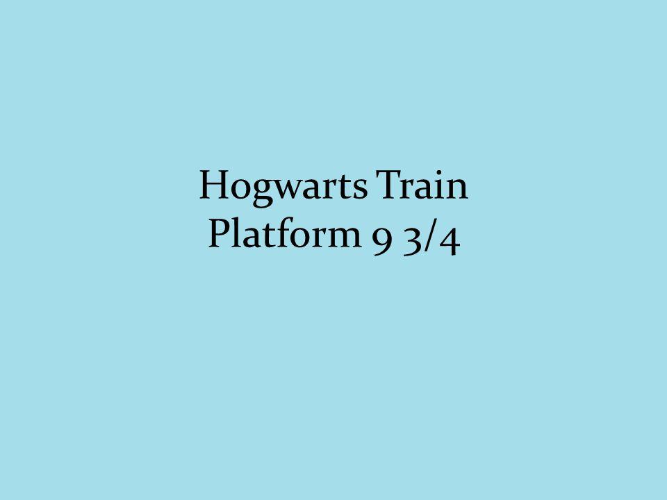 Hogwarts Train Platform 9 3/4