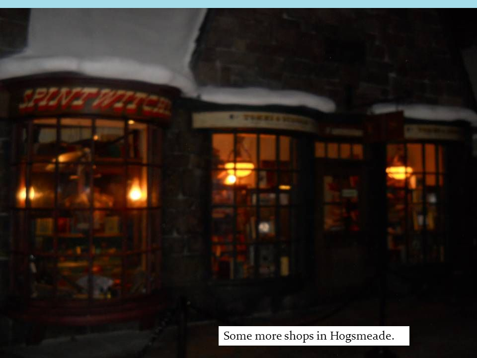 Some more shops in Hogsmeade.