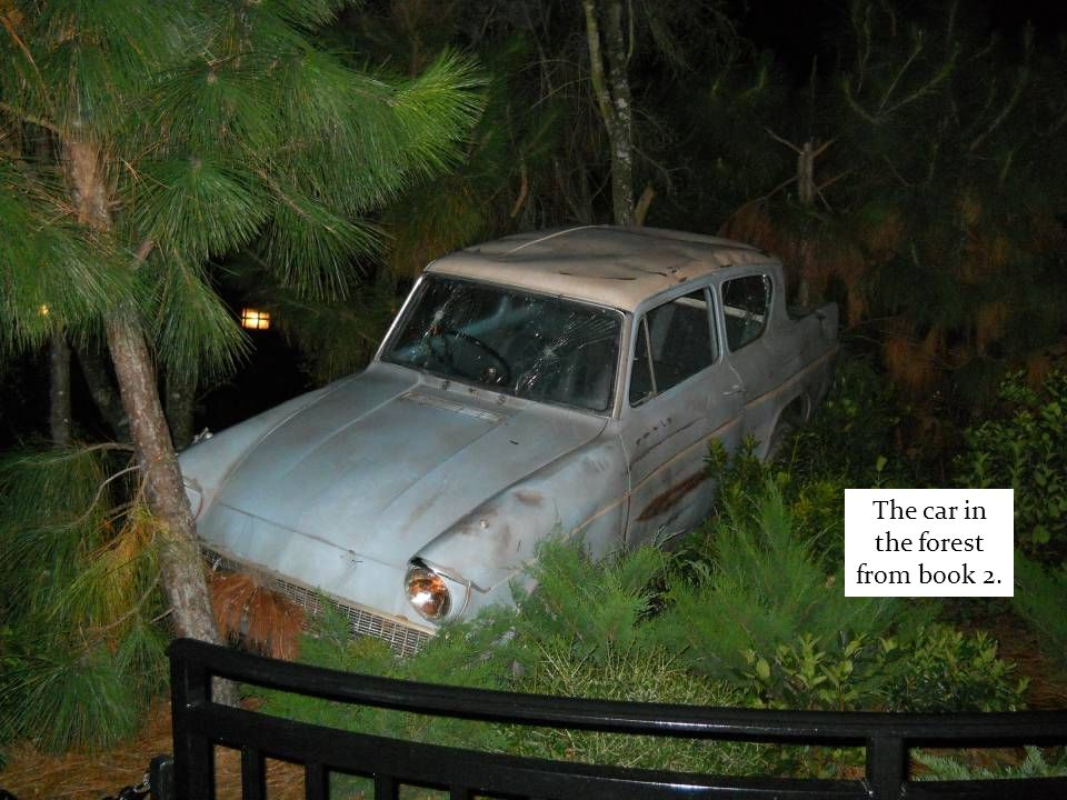 The car in the forest from book 2.