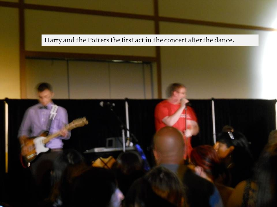Harry and the Potters the first act in the concert after the dance.