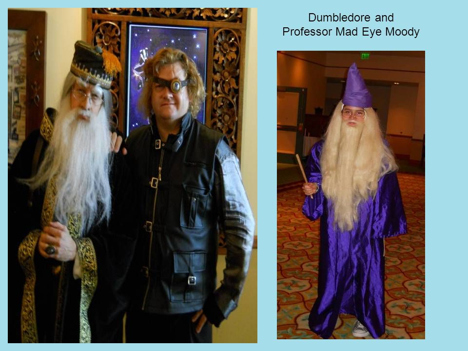 Dumbledore and Professor Mad Eye Moody