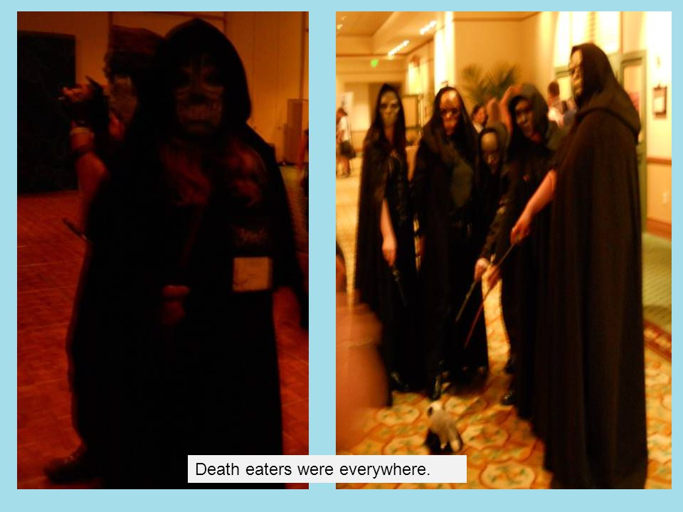 Death eaters were everywhere.