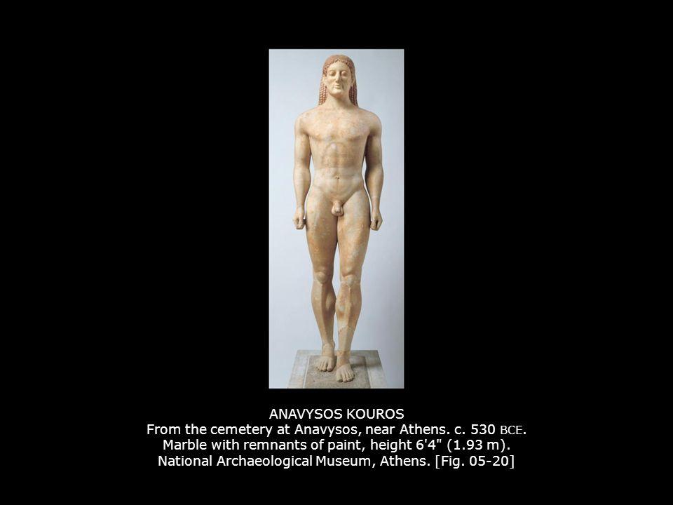 ANAVYSOS KOUROS From the cemetery at Anavysos, near Athens.