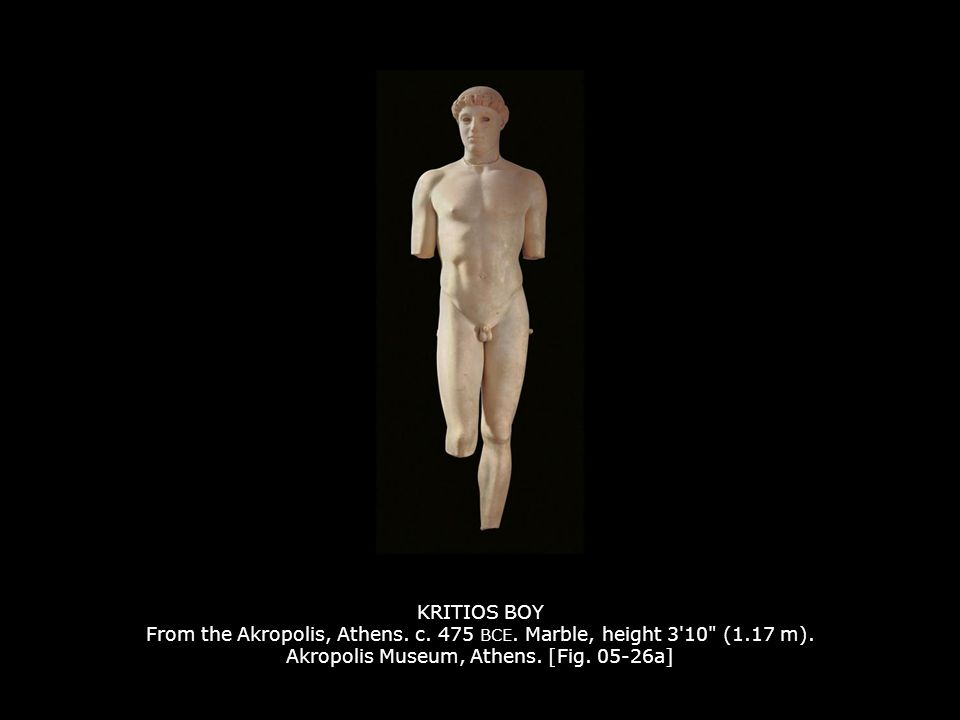 KRITIOS BOY From the Akropolis, Athens.c. 475 BCE.