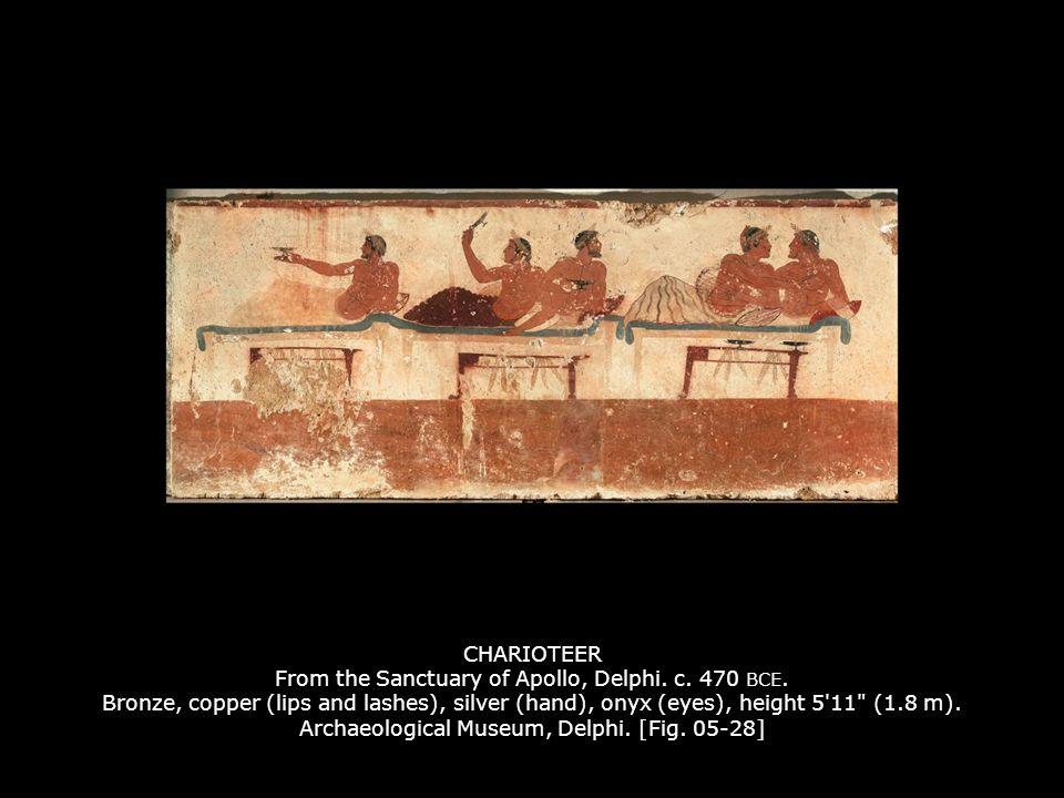 CHARIOTEER From the Sanctuary of Apollo, Delphi.c.