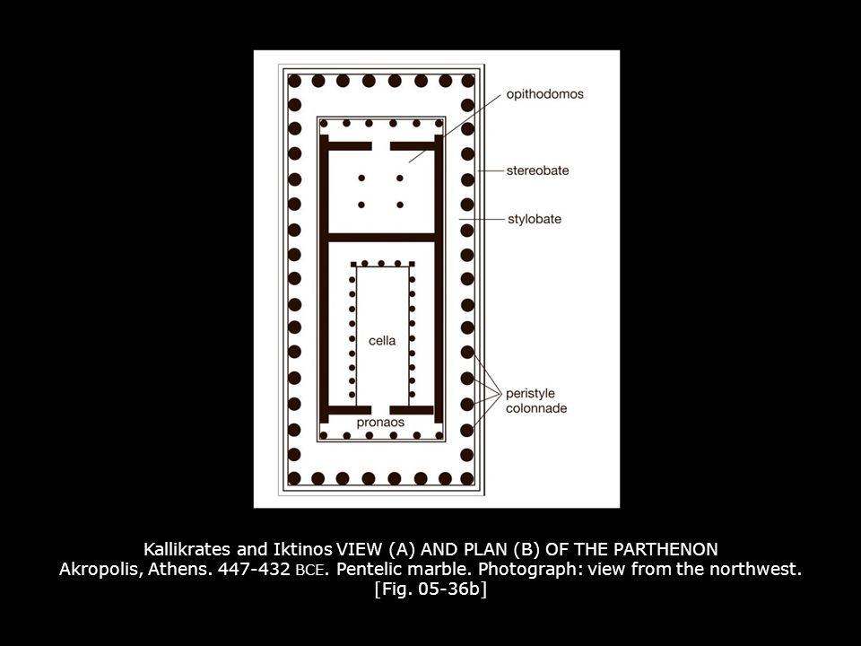Kallikrates and Iktinos VIEW (A) AND PLAN (B) OF THE PARTHENON Akropolis, Athens.
