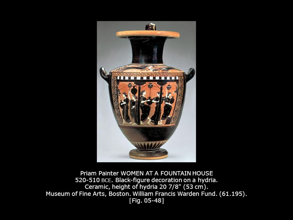 Priam Painter WOMEN AT A FOUNTAIN HOUSE 520-510 BCE.