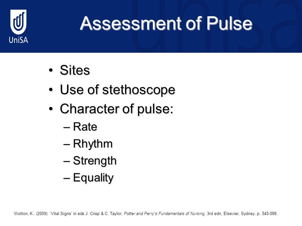 Assessment of Pulse © 2009 Elsevier Australia5 Wotton, K..