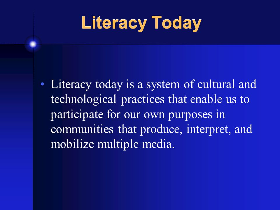 Literacy & Identity Identities are mobilizable histories, affiliations, and identifications that orient us within networks of social relations A significant part of our identity resources and commitments arise from engagement with popular culture media through multimedia and transmedia literacy practices