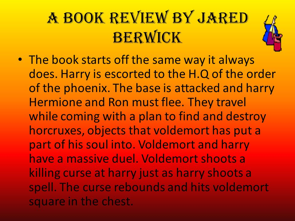 a book review by Jared Berwick The book starts off the same way it always does.