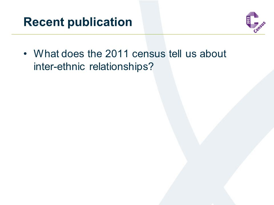 Recent publication What does the 2011 census tell us about inter-ethnic relationships?