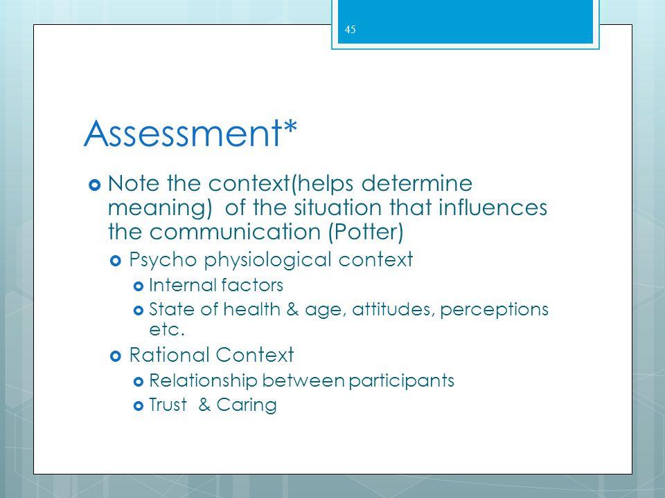 IV. Application of the Nursing Process 44