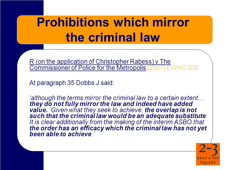 Prohibitions - Issues Act in an anti-social manner in the city of Manchester.