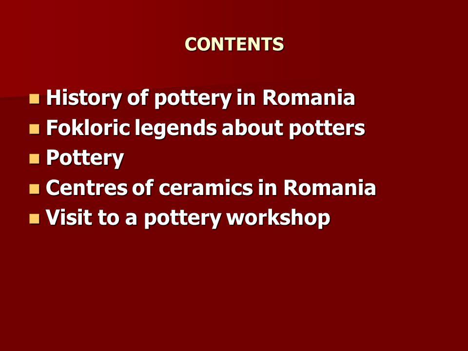 CENTRES OF CERAMICS IN ROMANIA CERAMICS FROM BAIA MARE CERAMICS FROM BAIA MARE