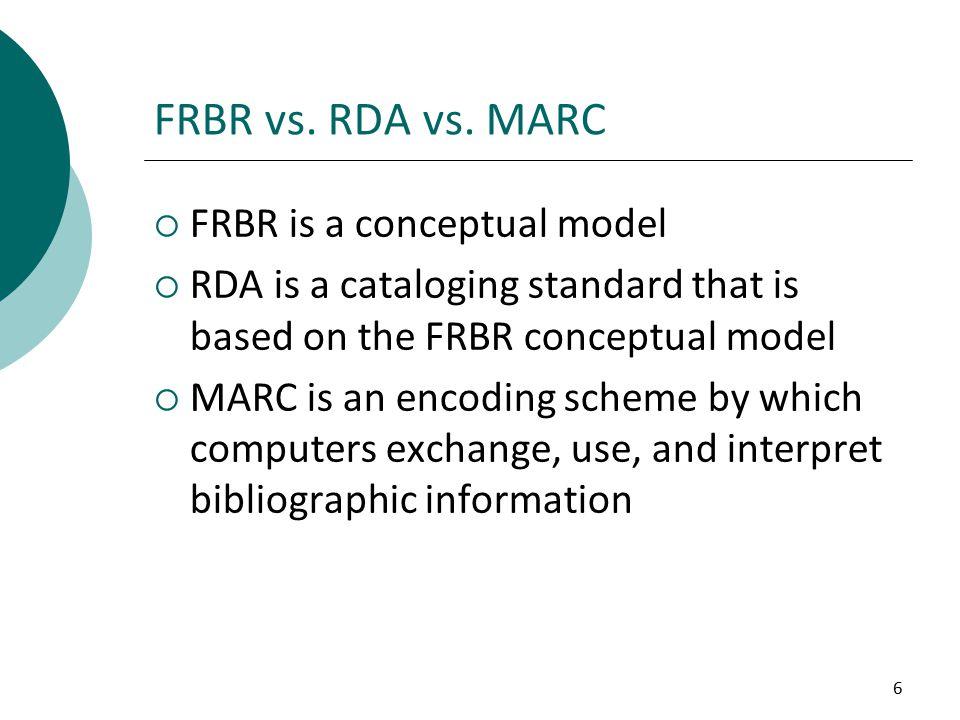6 FRBR vs. RDA vs.
