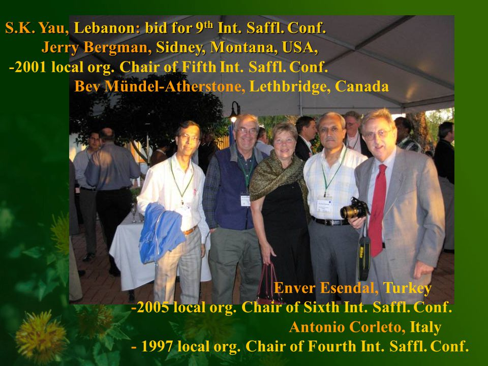 Enver Esendal, Turkey -2005 local org. Chair of Sixth Int.