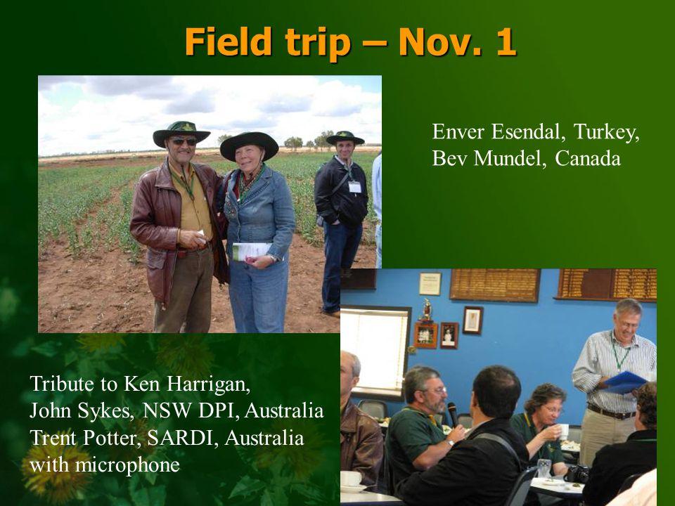 SAFFLOWER Art Weisker, SeedTech, USA Trent Potter, SARDI, Australia