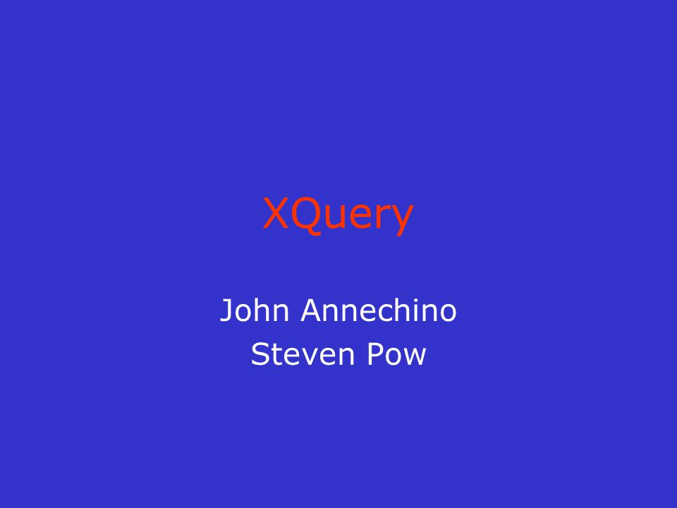 Agenda What is XQuery.Uses of XQuery XQuery vs.