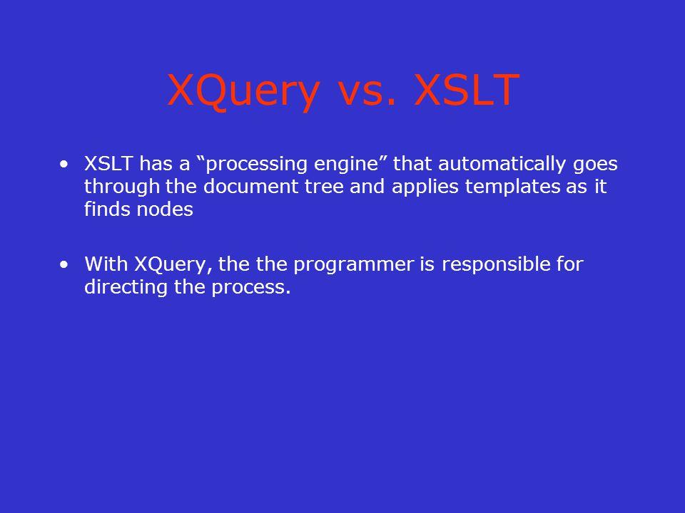 XQuery vs.